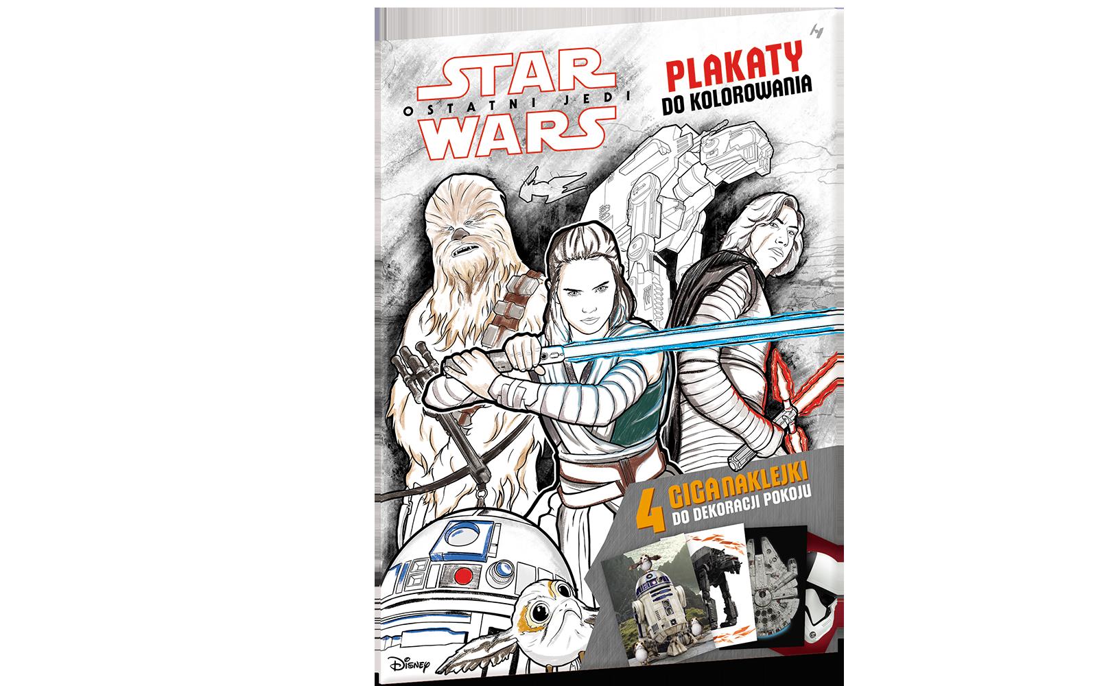 Star Wars™. Plakaty dokolorowania znaklejkami