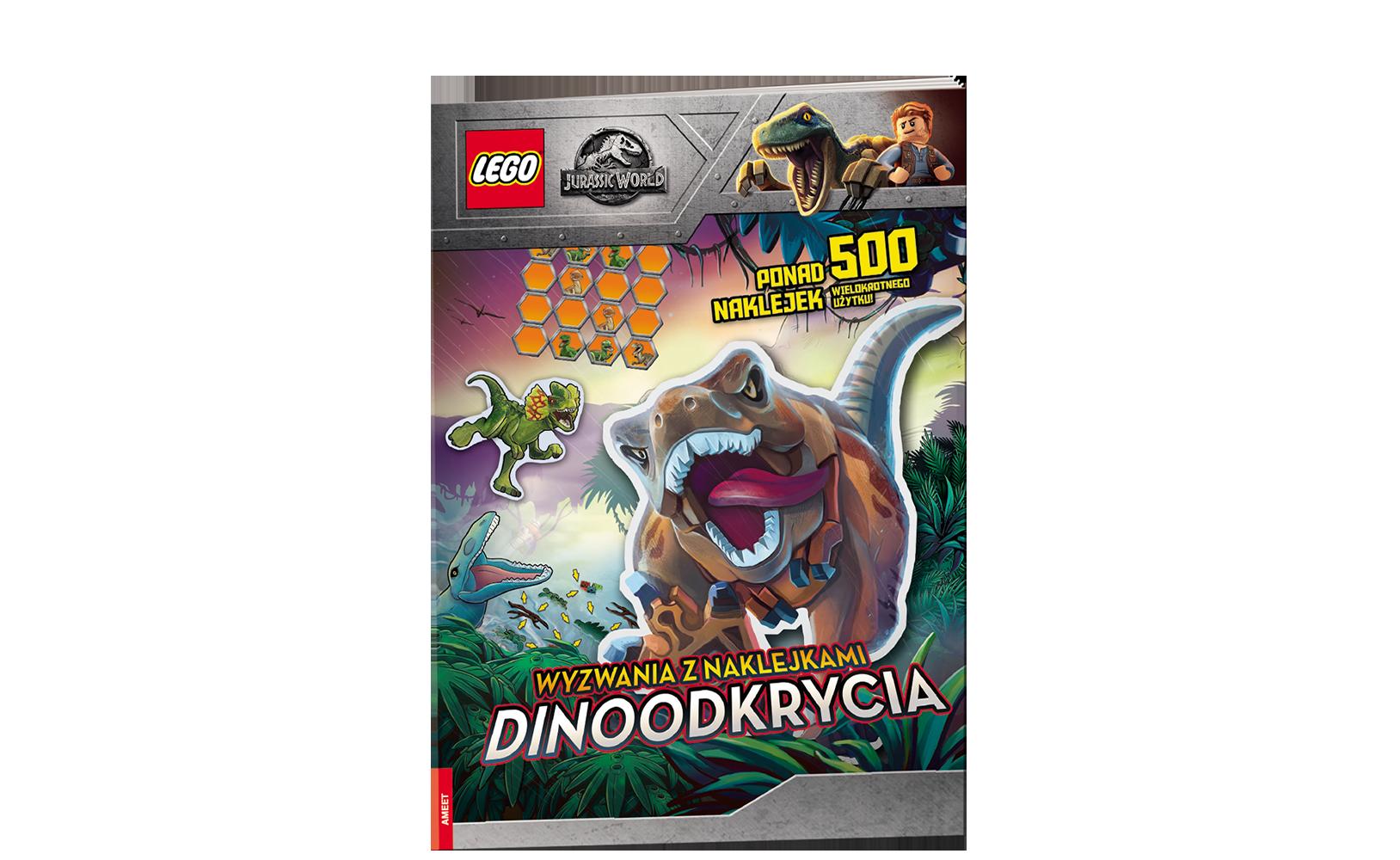 LEGO® Jurassic World™. Wyzwania zNaklejkami. Dinoodkrycia