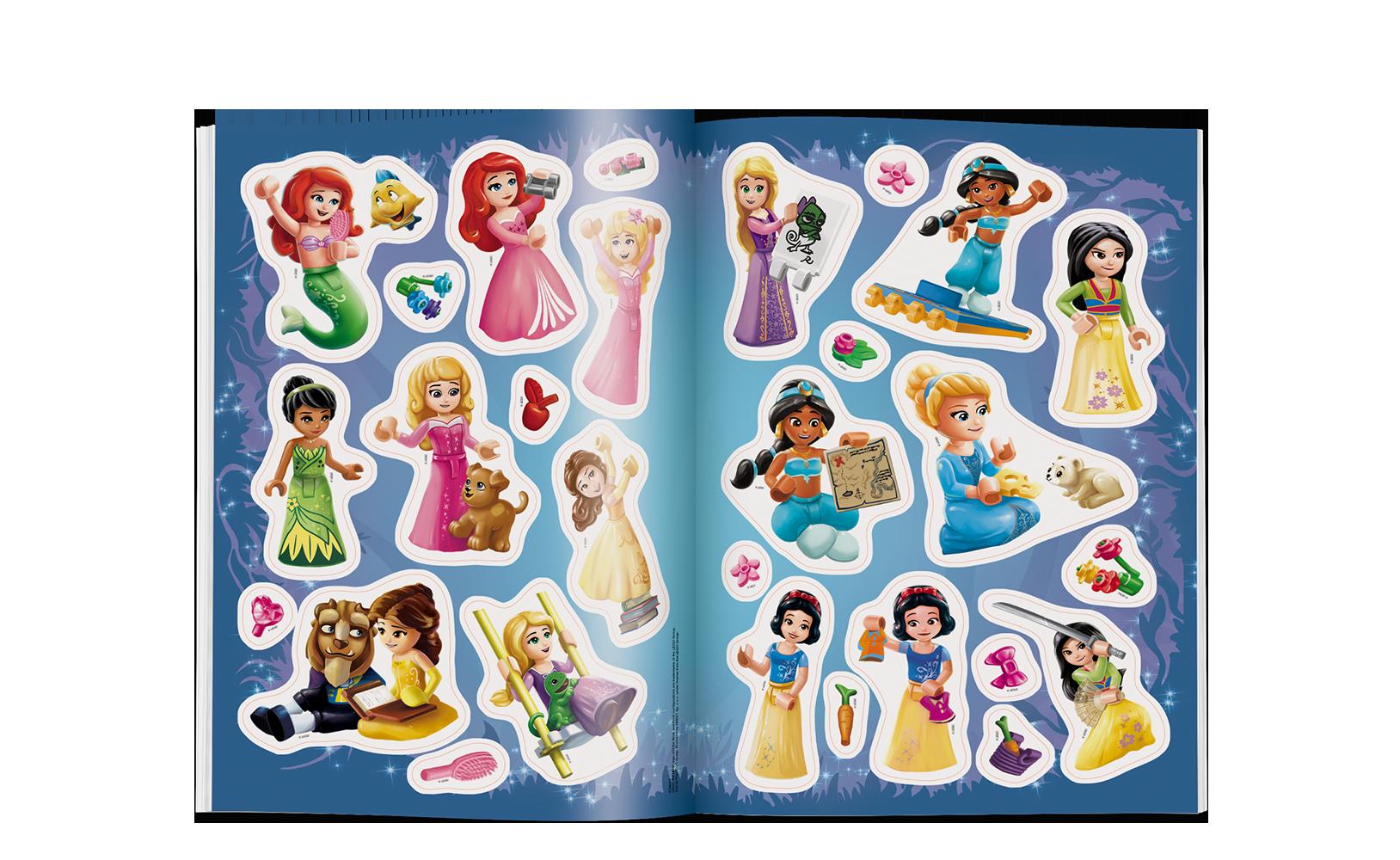 LEGO® Disney Księżniczka™. Kolorowanka zNaklejkami