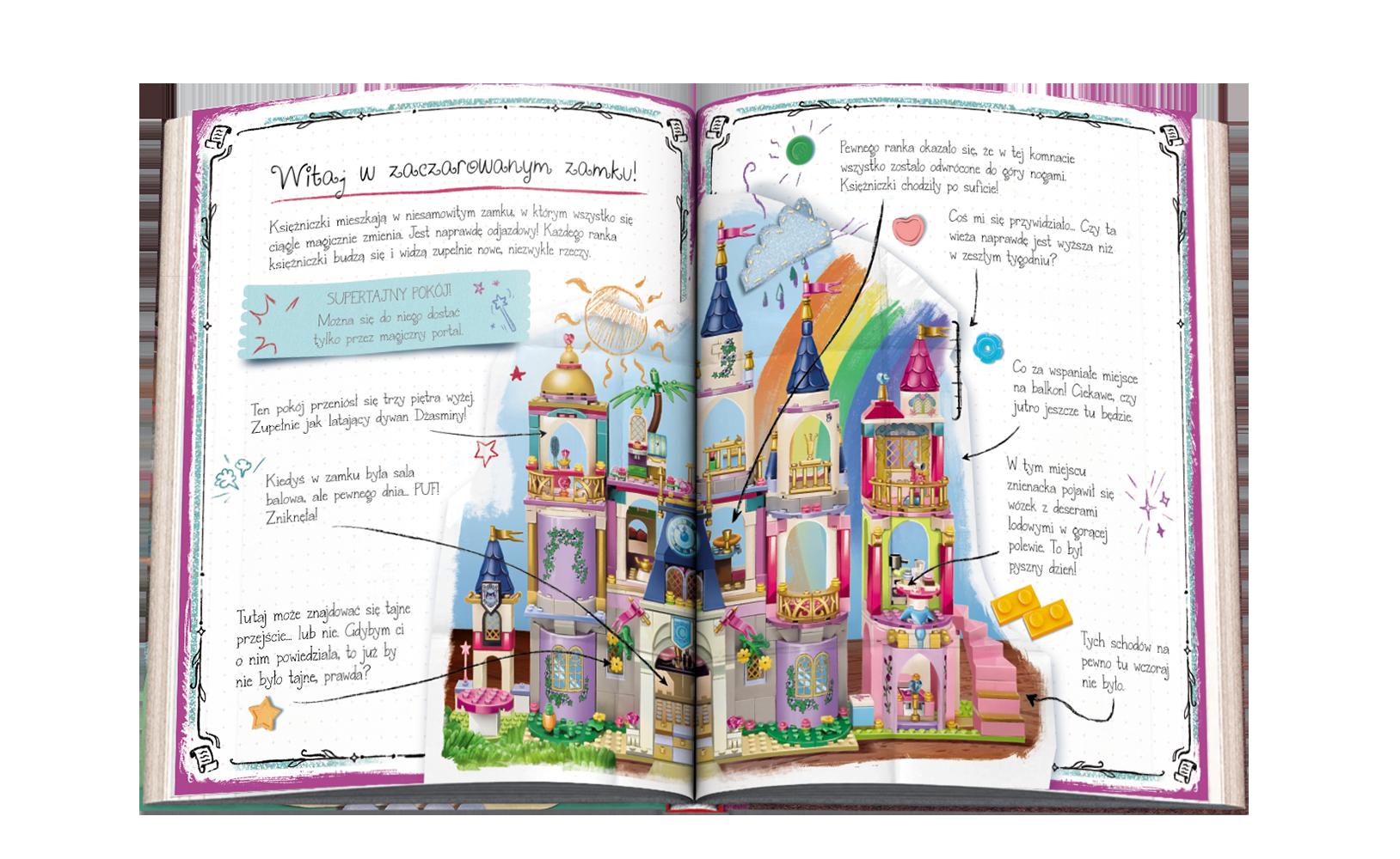 Zestaw: książka Sekrety magicznego zamku zminilaleczką
