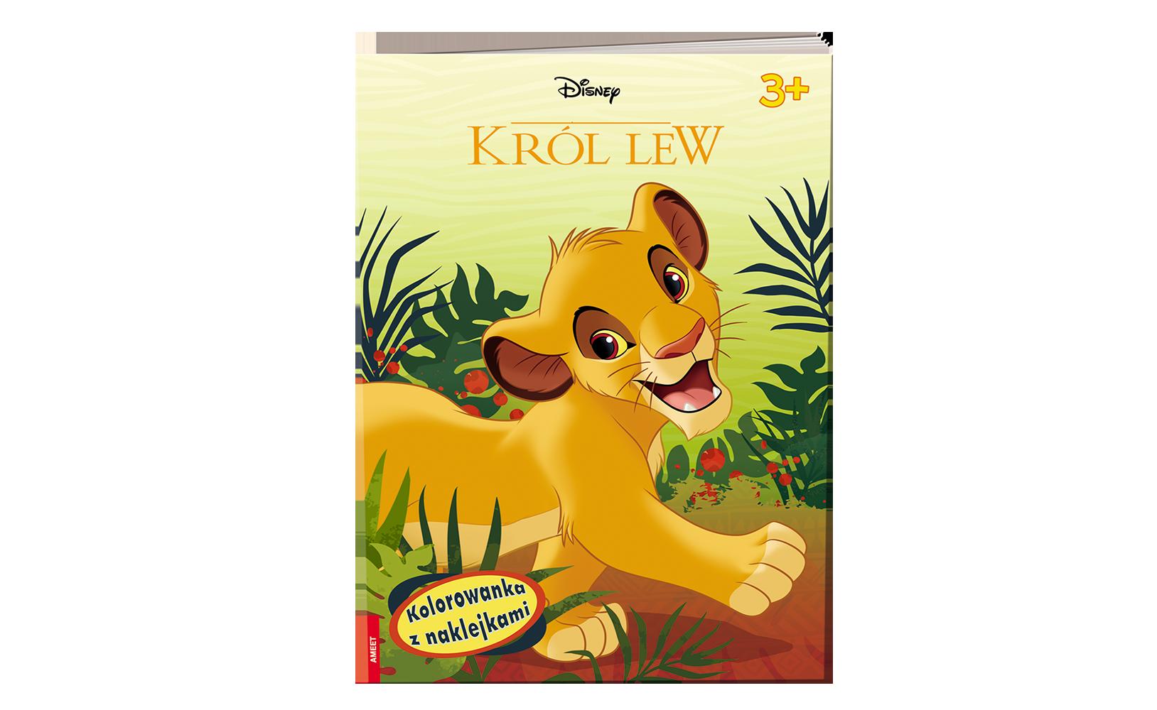 Król lew. Kolorowanka zNaklejkami