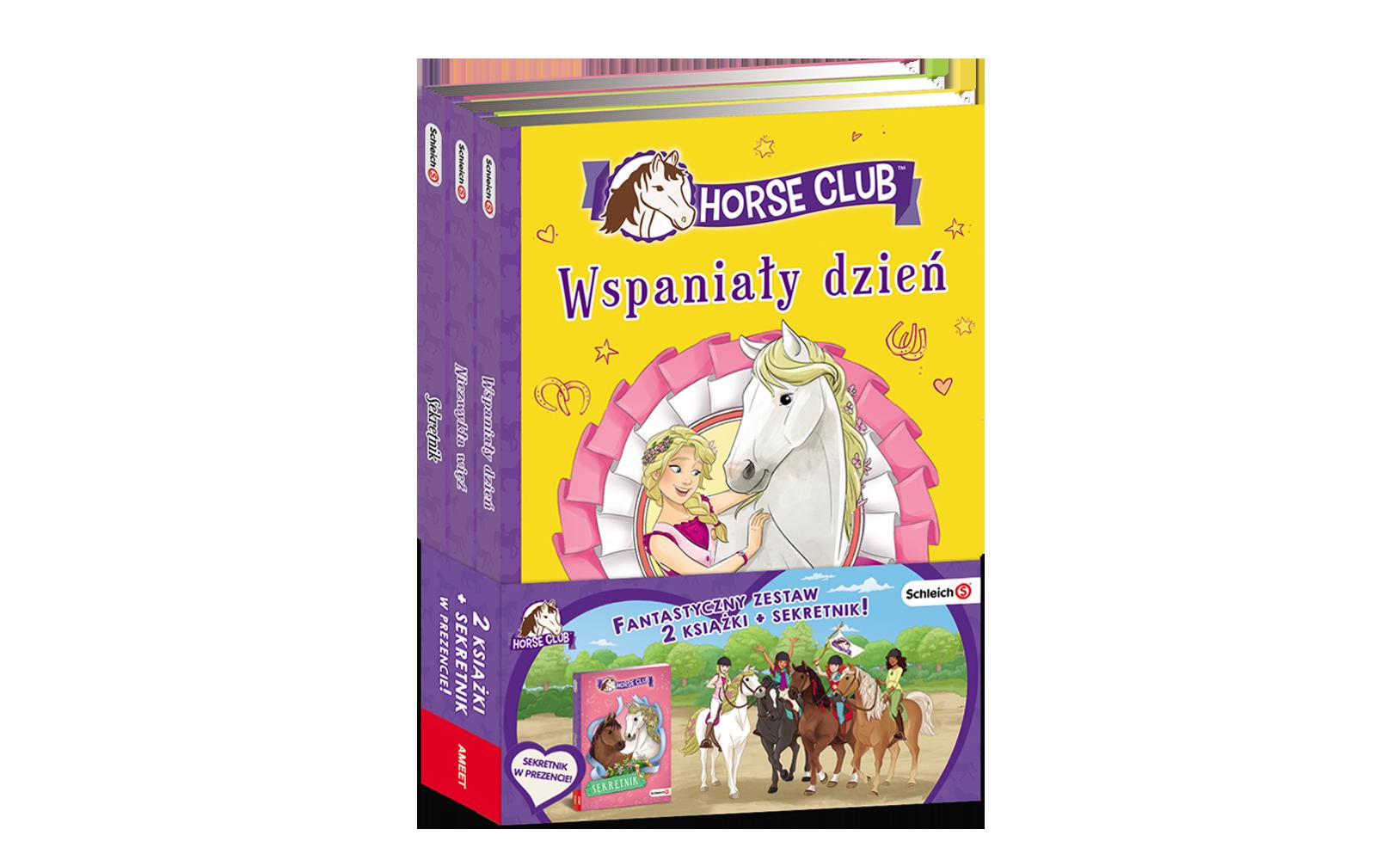 ZESTAW HORSE CLUB. 2 kiążki + Sekretnik wprezencie!