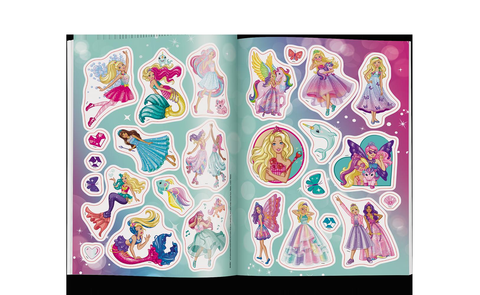 Barbie™ Dreamtopia. Kolorowanka zNaklejkami